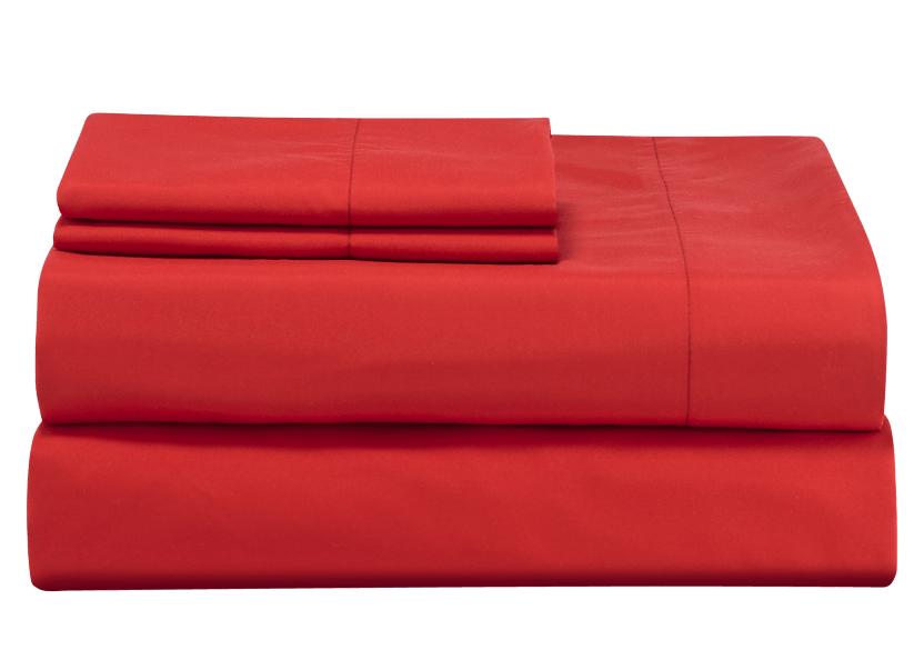 Sheet Set - Red - King Size product photo Front View L