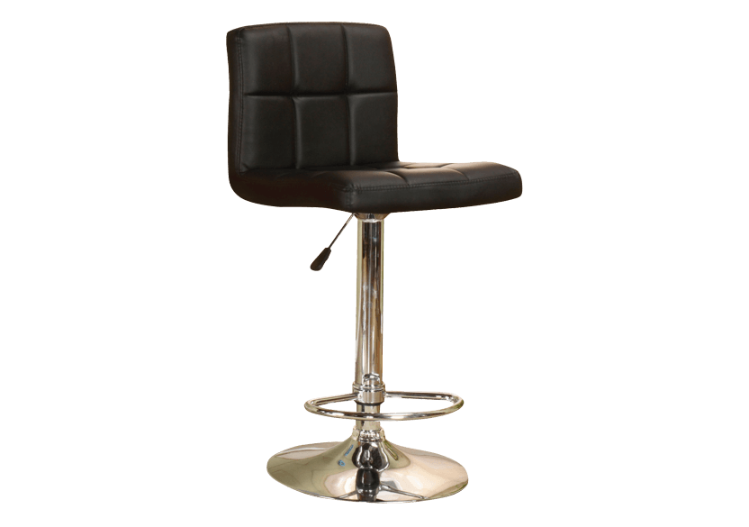 Adjustable Bar Stool - Black product photo Front View L