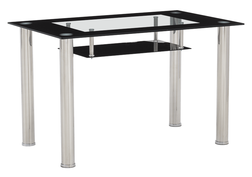 Rectangular Table with Glass Top product photo Front View L