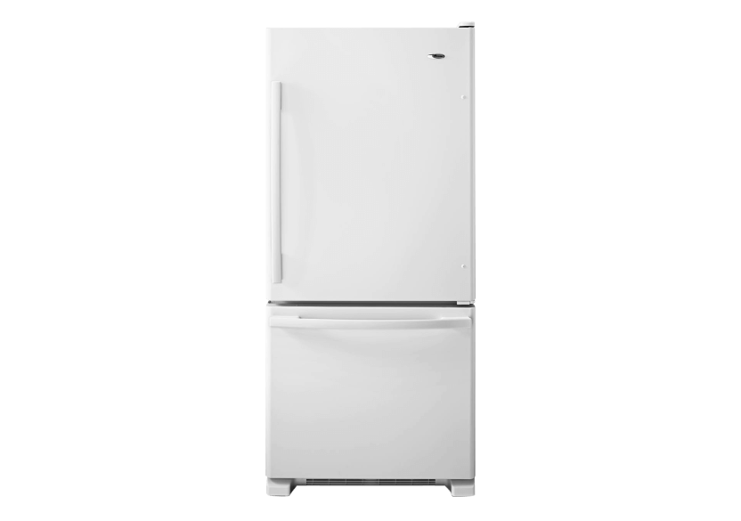 Amana 18.5cu.ft Bottom Freezer Refrigerator - ABB1924BRW product photo Front View L