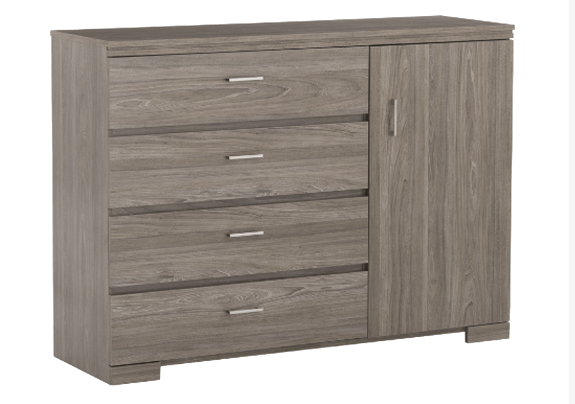 4 Drawer Dresser - Brown Grey product photo Front View L