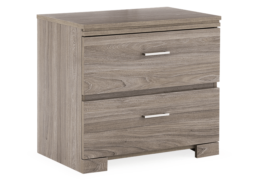 Nightstand - Brown Grey product photo Front View L