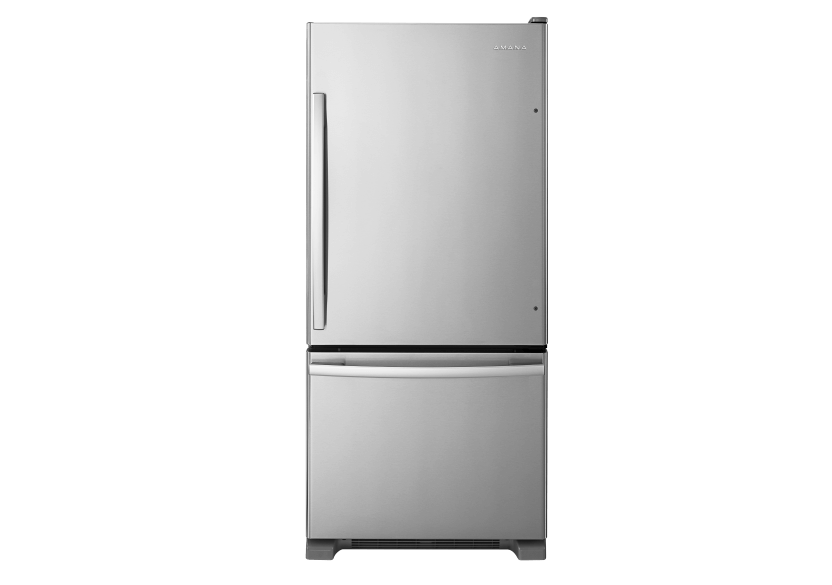 Amana 18.5cu.ft Bottom Freezer Refrigerator - ABB1924BRM product photo Front View L