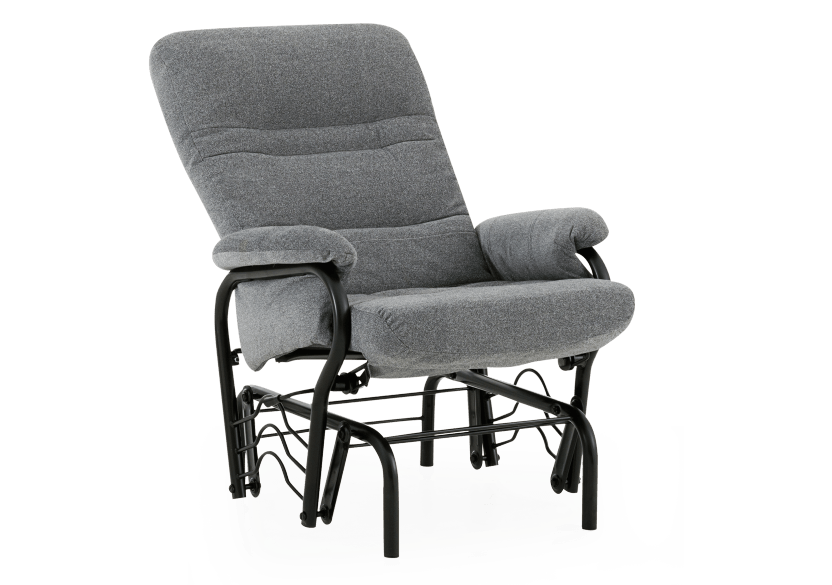 Rocking Fabric Recliner - Grey product photo other02 L