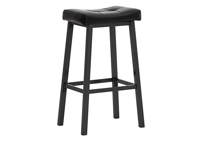 Stool with Laminated Leather Seat - Dark brown product photo other01 L