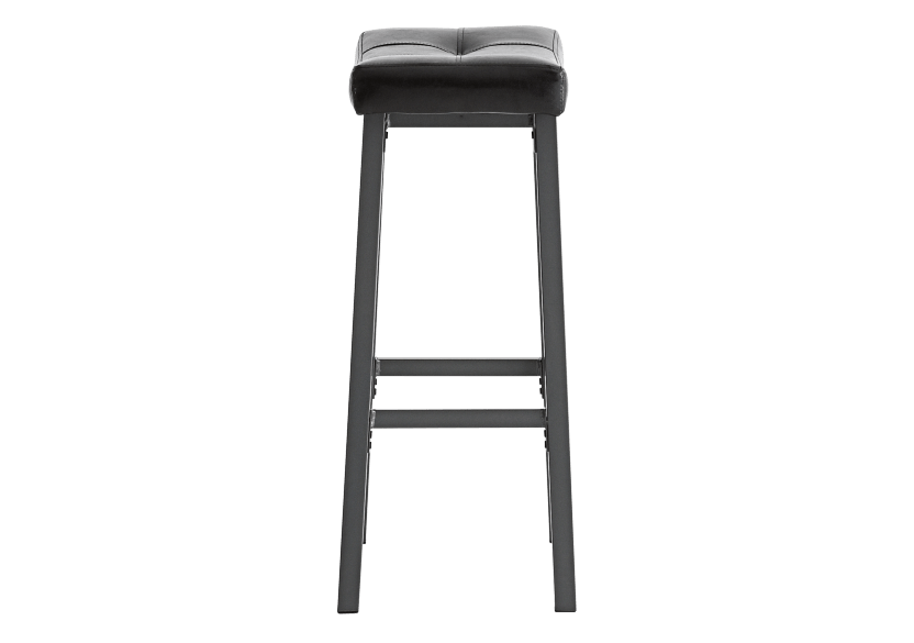 Stool with Laminated Leather Seat - Dark brown product photo other02 L