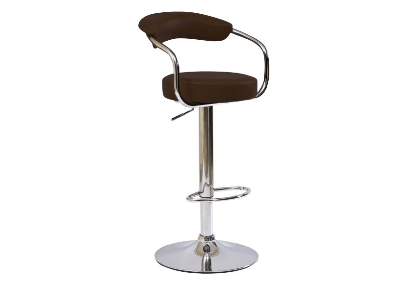 Adjustable Bar Stool - Brown product photo Front View L