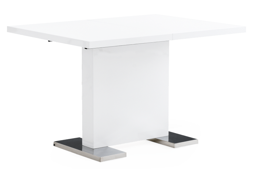 Table with Central Leaf - White product photo other02 L