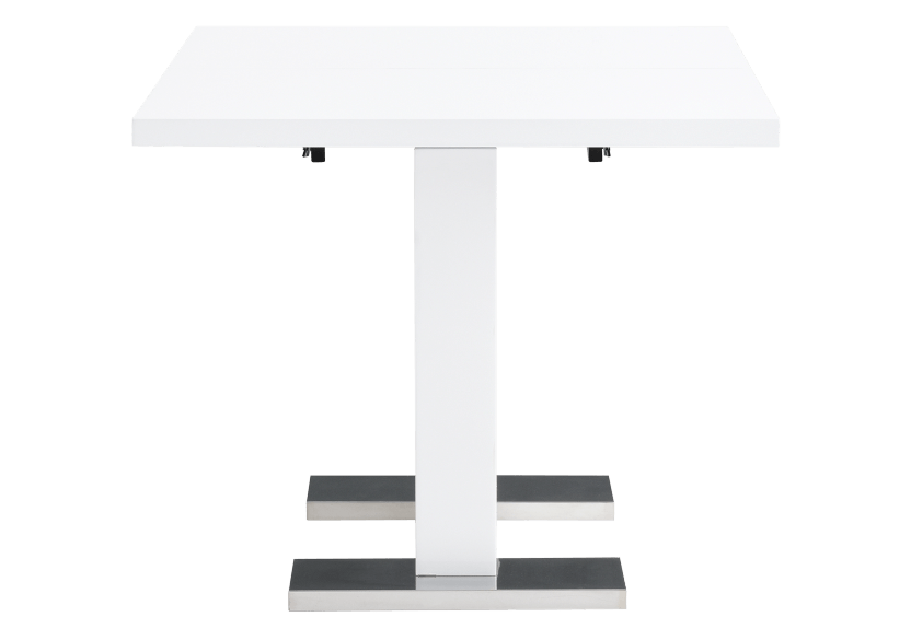 Table with Central Leaf - White product photo other03 L