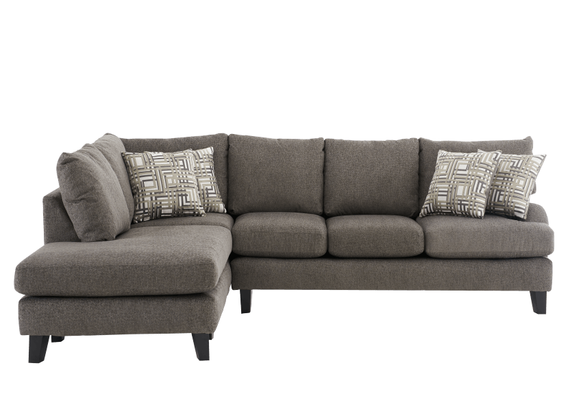 Fabric Sectional Sofa With Decorative, Grey Fabric Sectional Sofa