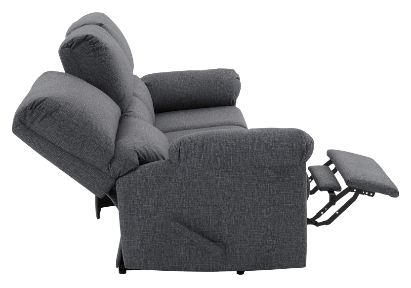 Elran Fabric Reclining Sofa - Grey product photo other05 L