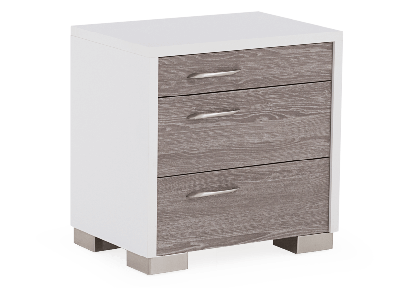 Nightstand - White and Grey product photo Front View L