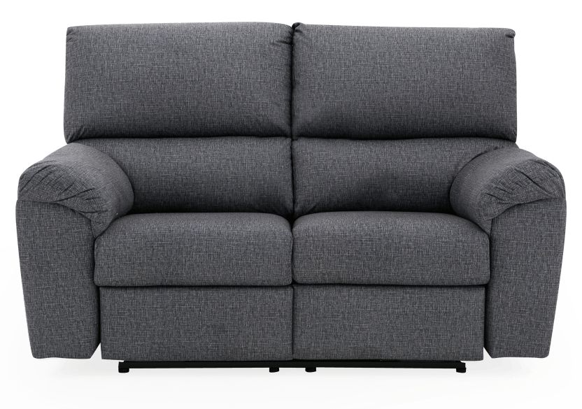 Elran Fabric Reclining Motorized Loveseat - Grey product photo Front View L