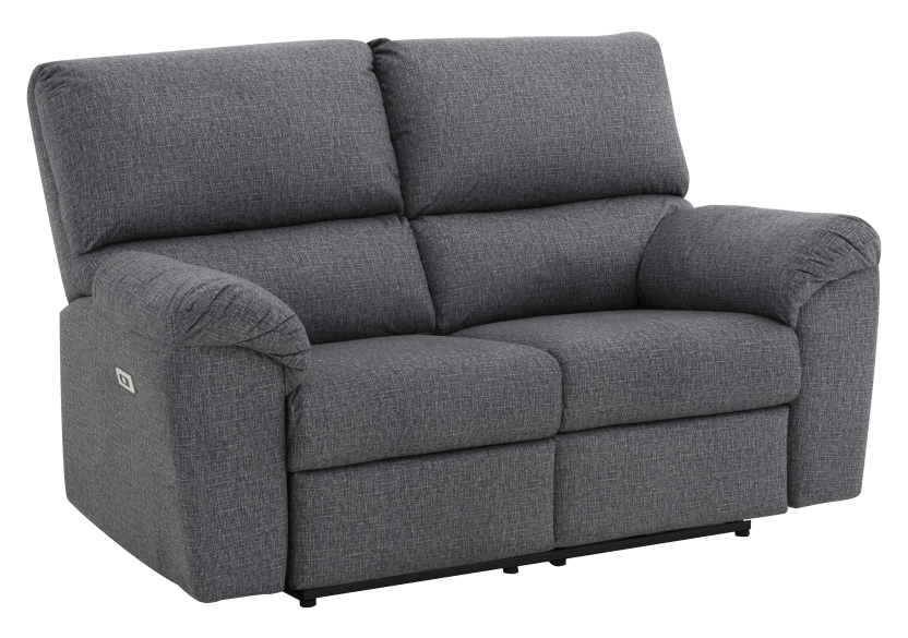 Elran Fabric Reclining Motorized Loveseat - Grey product photo other01 L