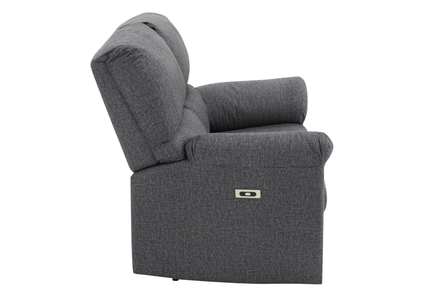 Elran Fabric Reclining Motorized Loveseat - Grey product photo other02 L