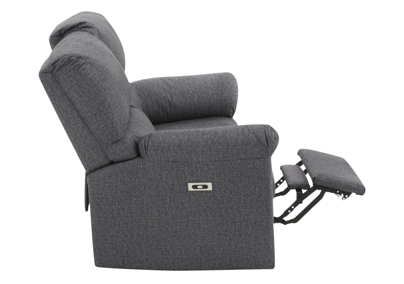 Elran Fabric Reclining Motorized Loveseat - Grey product photo other04 L