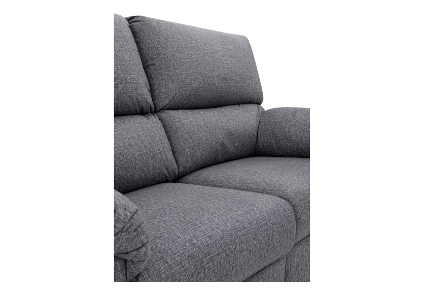 Elran Fabric Reclining Motorized Loveseat - Grey product photo other06 L