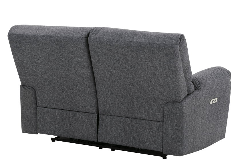 Elran Fabric Reclining Motorized Loveseat - Grey product photo other08 L