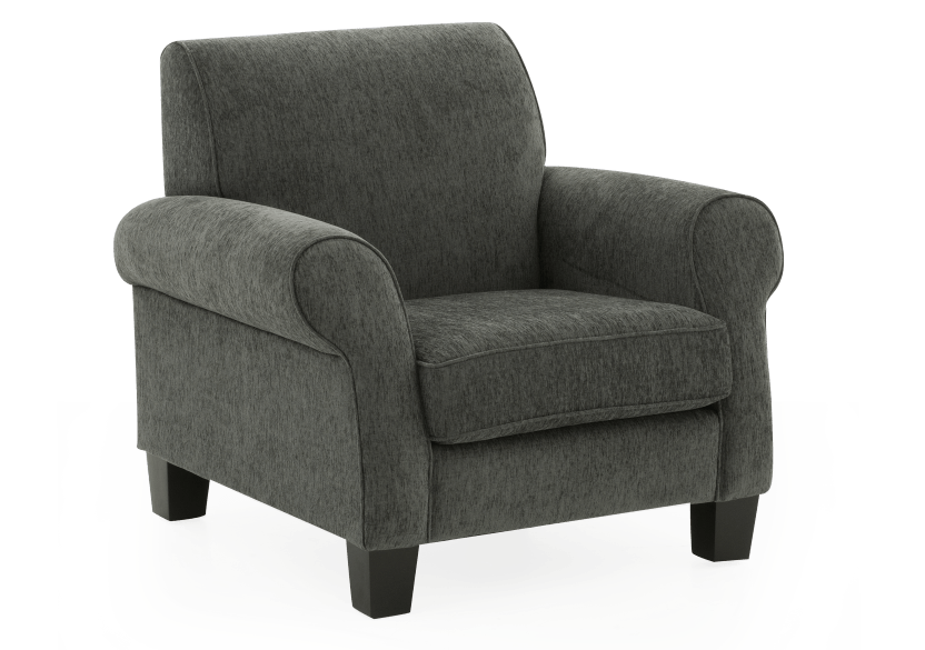 Fabric Armchair - Grey product photo other01 L