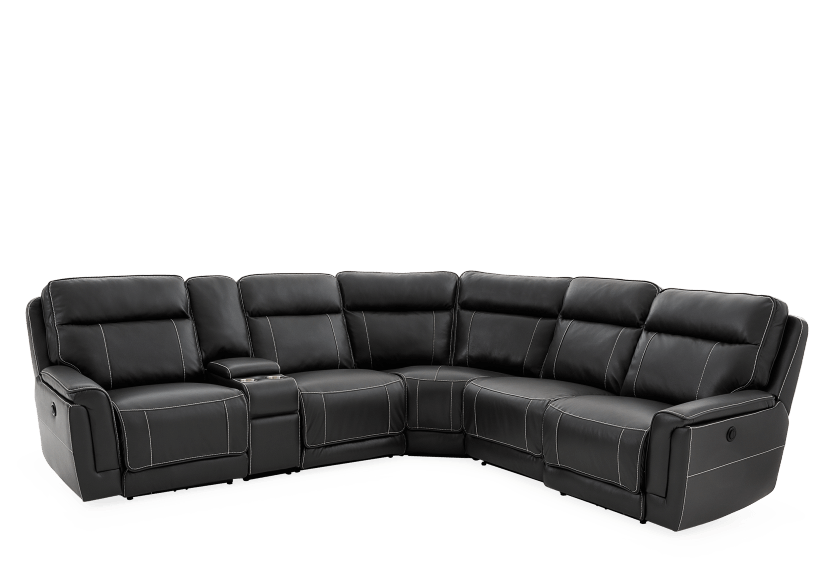 Reclining Motorized Sectional Sofa - Grey product photo other01 L