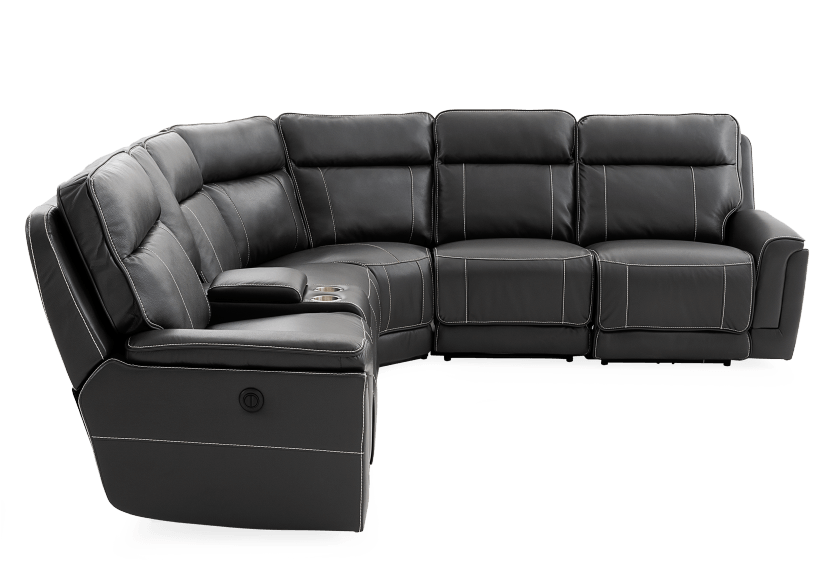 Reclining Motorized Sectional Sofa - Grey product photo other02 L