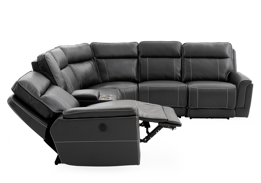 Reclining Motorized Sectional Sofa - Grey product photo other05 L
