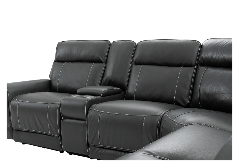 Reclining Motorized Sectional Sofa - Grey product photo other06 L