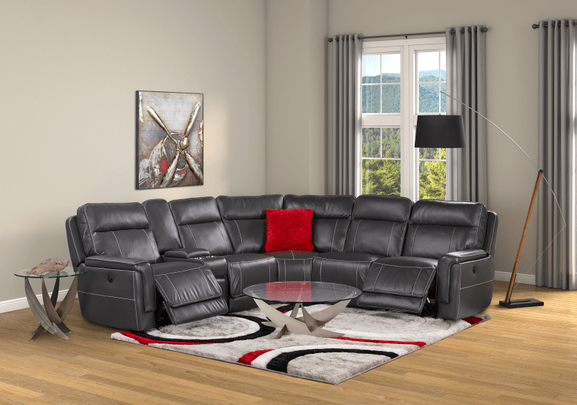 Reclining Motorized Sectional Sofa - Grey product photo other11 L