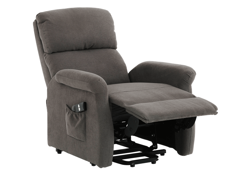 Fabric Electric Lift Recliner - Grey product photo other01 L