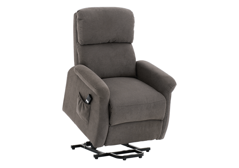 Fabric Electric Lift Recliner - Grey product photo other02 L