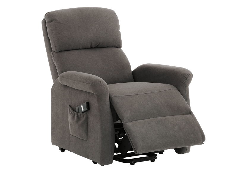 Fabric Electric Lift Recliner - Grey product photo other03 L