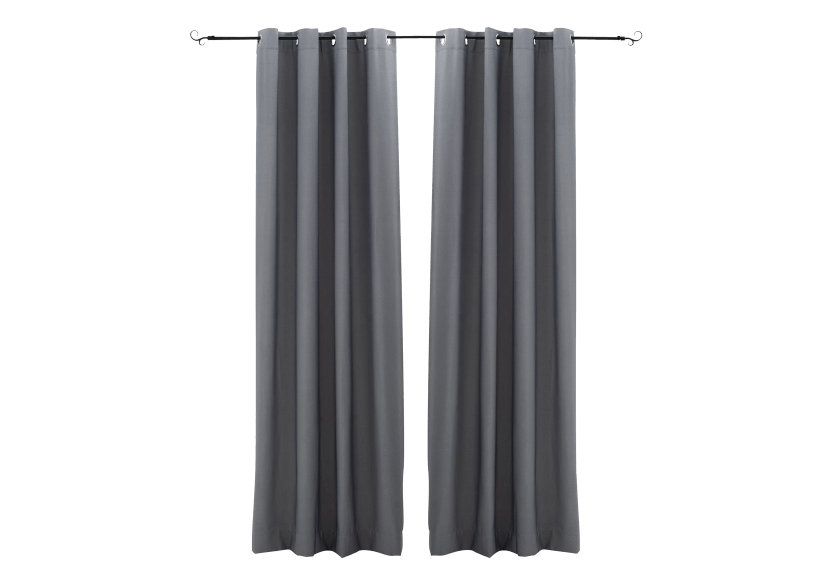 "54X96"" Set of 2 Curtains - Grey product photo Front View L"