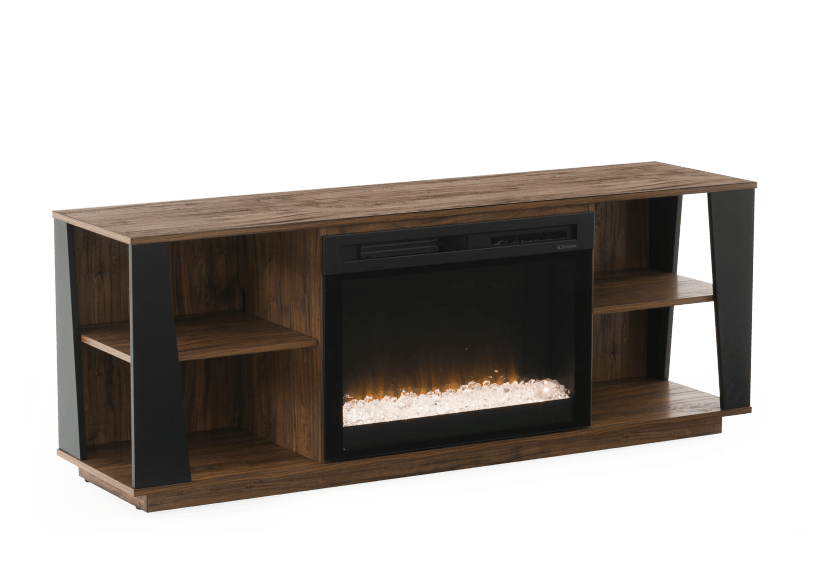 Electric Fireplace - Brown product photo Front View L