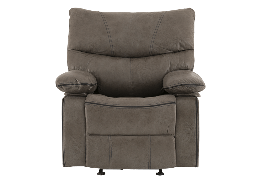 Fabric Rocking Recliner - Grey product photo
