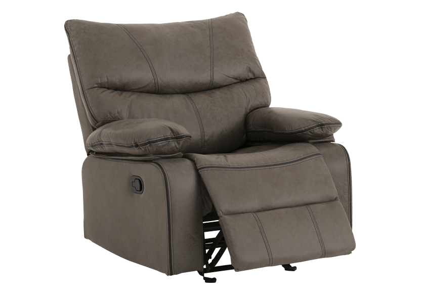 Fabric Rocking Recliner - Grey product photo other02 L