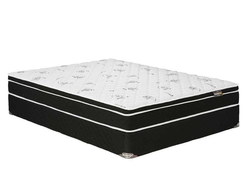 "Full Size 9"" Mattress and Box Spring Set - Dumas Springwall product photo Front View L"