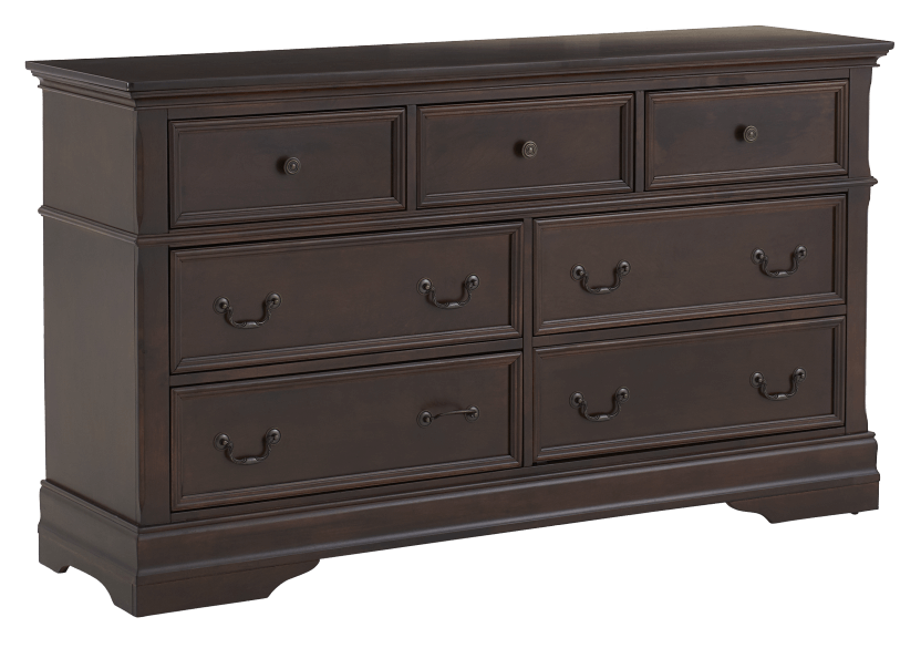 7 Drawer Dresser - Brown product photo Front View L