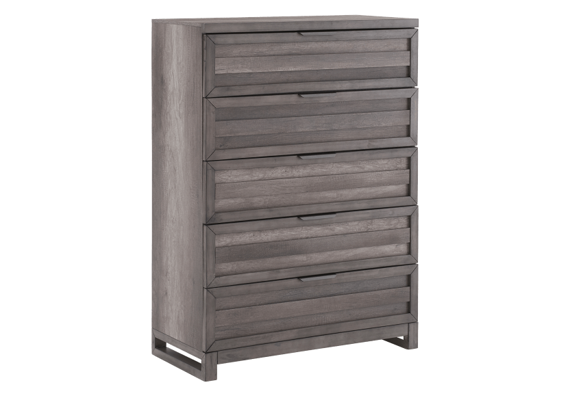 5 Drawer Chest - Grey product photo Front View L