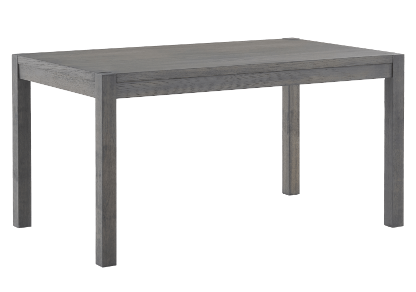 Wood Rectangular Table - Grey product photo Front View L