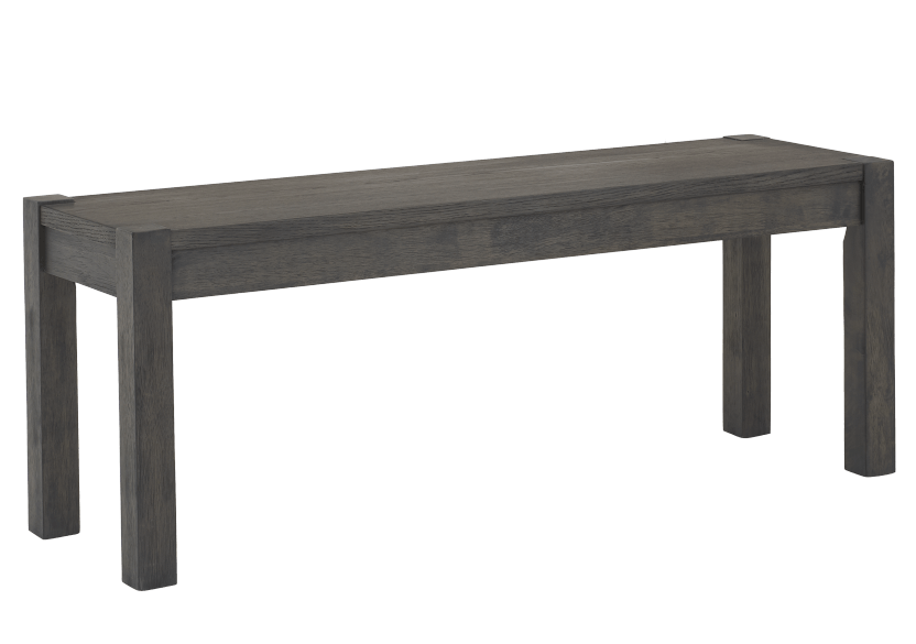Wood Bench - Grey product photo Front View L