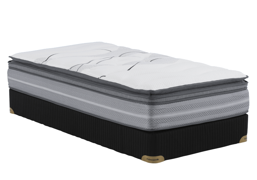 "Twin Size 3"" Mattress and Box Spring Set - Lola2 Primo Matelas product photo Front View L"