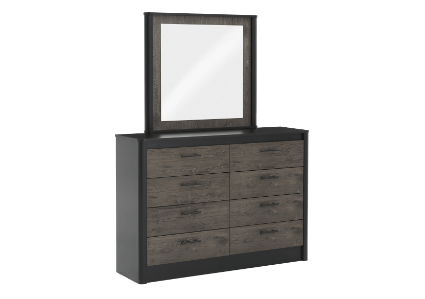 Bedroom Set - Black and Brown Grey - Queen Size product photo other02 L