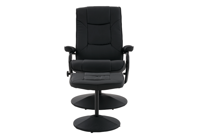 Swivel Recliner with Ottoman - Black product photo