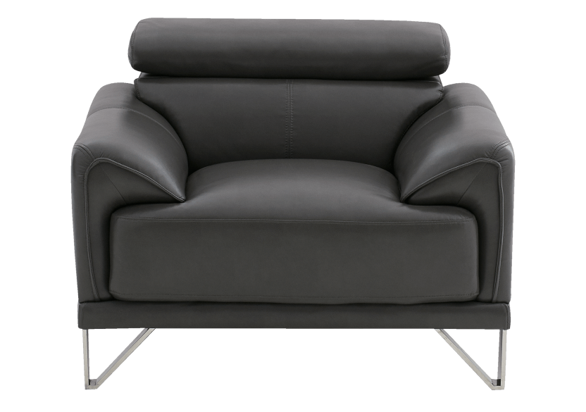 Armchair with Adjustable Headrest  - Dark Grey product photo Front View L