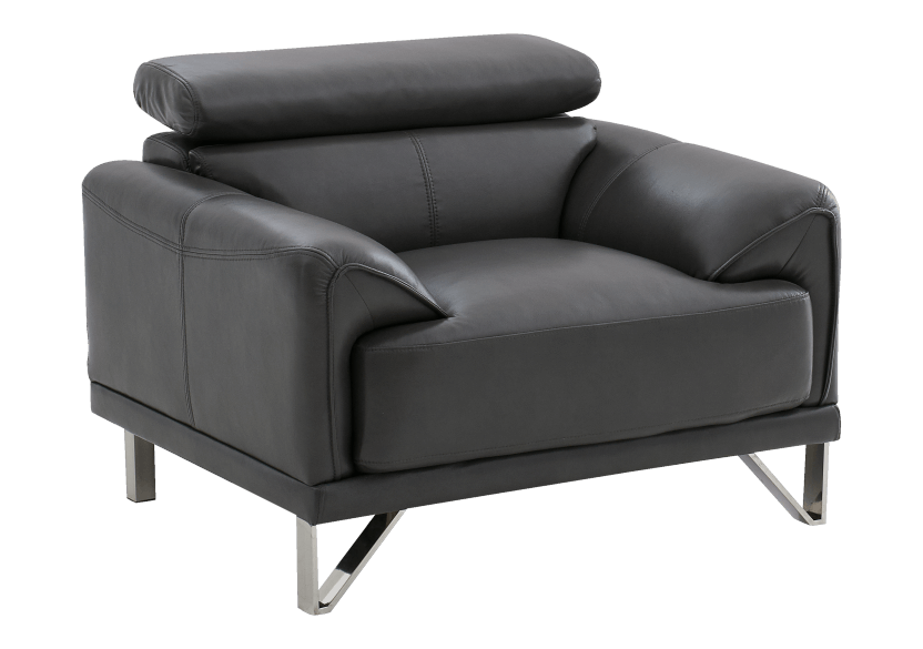 Armchair with Adjustable Headrest  - Dark Grey product photo other01 L