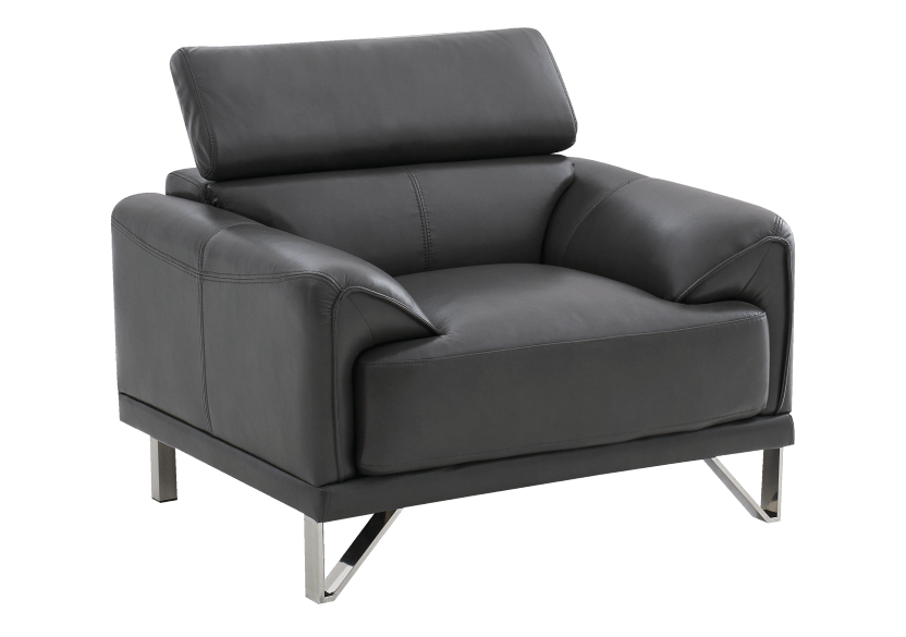 Armchair with Adjustable Headrest  - Dark Grey product photo other02 L