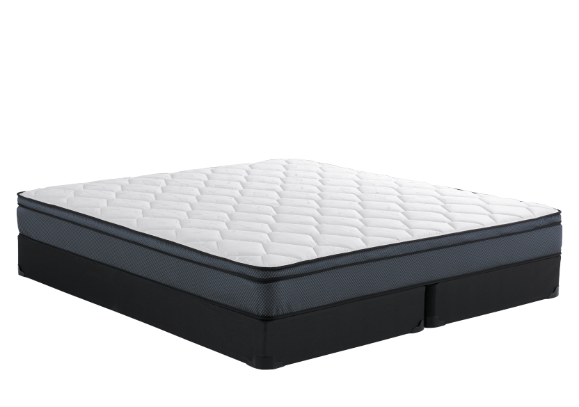 "King Size 8"" Mattress and Box Spring Set - Oeillet Matelas Mirabel product photo Front View L"
