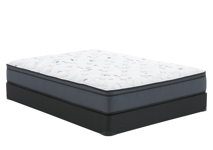 "Full Size 4"" Mattress and Box Spring Set - Ancolie Matelas Mirabel product photo Front View L"