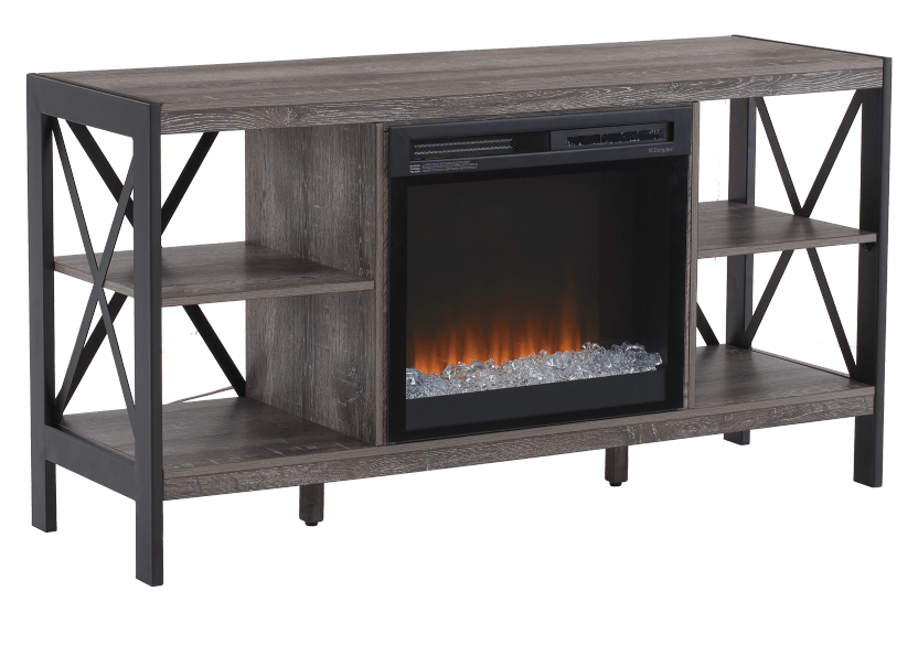 Electric Fireplace - Grey product photo Front View L