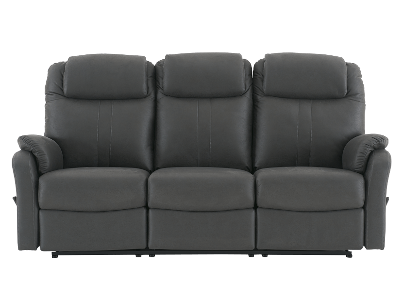 Fabric Reclining Sofa - Dark Grey product photo Front View L